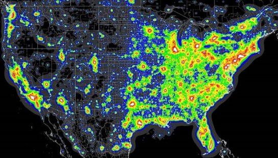 світлове забруднення США4