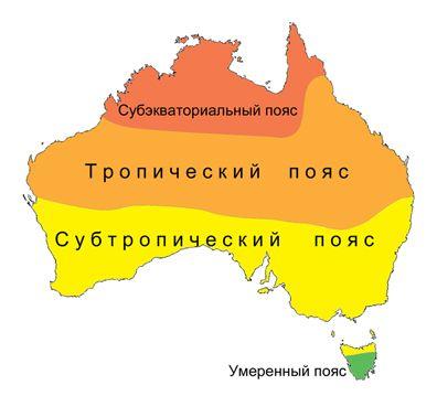 Який клімат в Австралії? Опис, типи, карта і таблиця